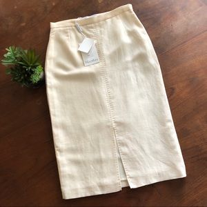 Max Mara Linen Pencil Skirt
